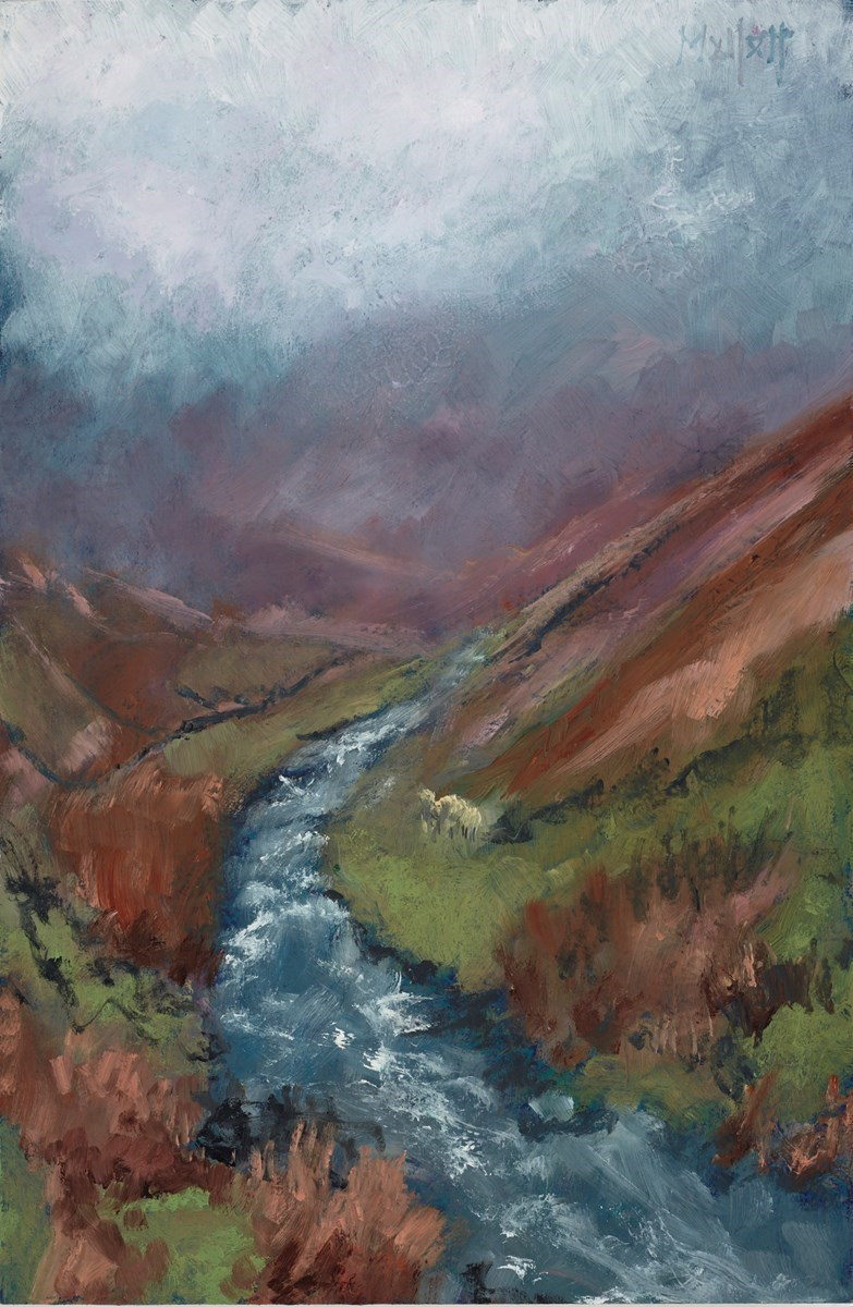 Misty Fells by Timmy Mallett -  sized 8x12 inches. Available from Whitewall Galleries